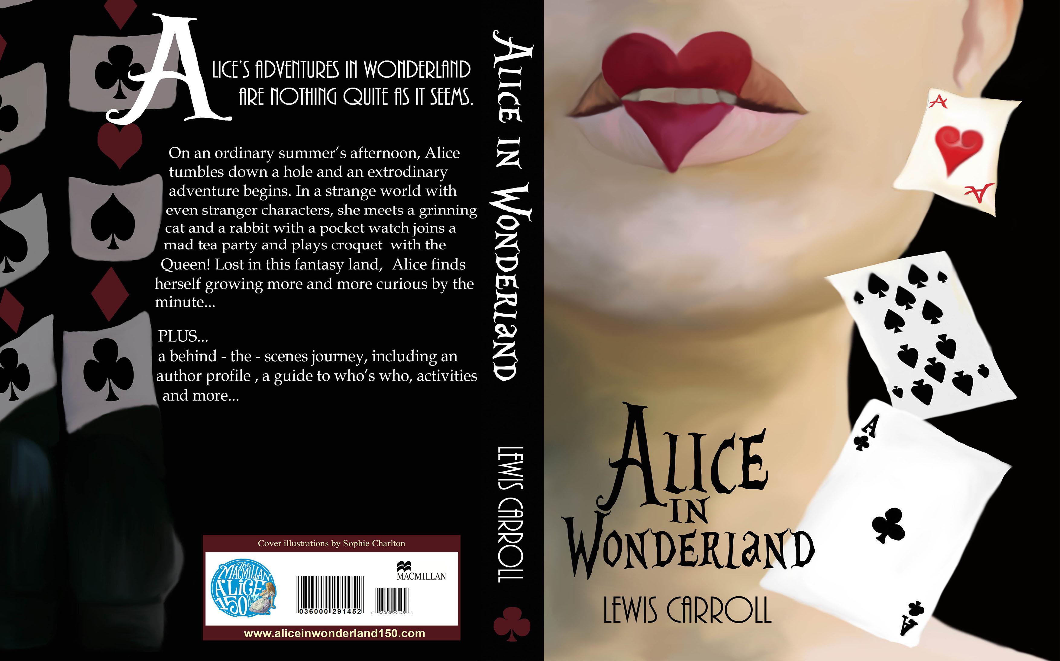 Alice In Wonderland Book Cover Designs : Alice in wonderland designs sophie charlton